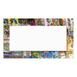 extracto de la tienda de cómic tarjetas de visita