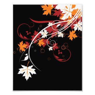 Extracto de las hojas de otoño impresiones fotograficas