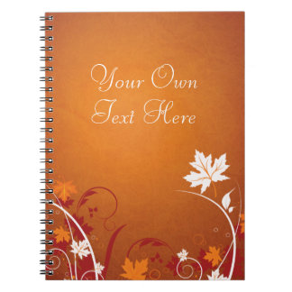 Extracto de las hojas de otoño spiral notebook