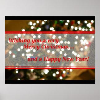 Extracto de las luces de navidad póster