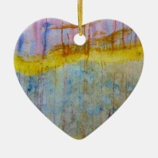Extracto de las naturalezas adorno de cerámica en forma de corazón