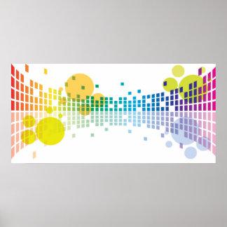 extracto de las ondas acústicas II del arco iris Póster