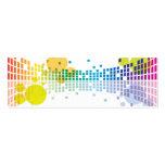 extracto de las ondas acústicas II del arco iris Plantillas De Tarjeta De Negocio