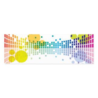 extracto de las ondas acústicas II del arco iris Tarjetas De Visita Mini