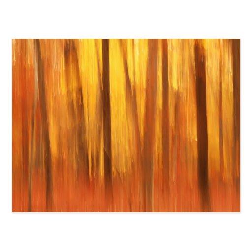 Extracto de los árboles del otoño postales