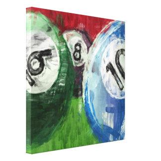 Extracto de los billares impresión en lienzo