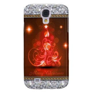 Extracto de los diamantes de las Felices Navidad Funda Para Galaxy S4