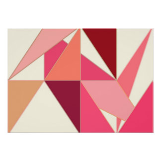 Extracto de los mediados de siglo, triángulos - póster