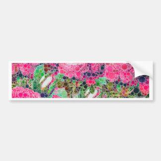 Extracto de los rosas de las rosas fuertes pegatina para auto