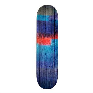 """Extracto de madera #11 de la acuarela colorida patineta 7 7/8"""""""