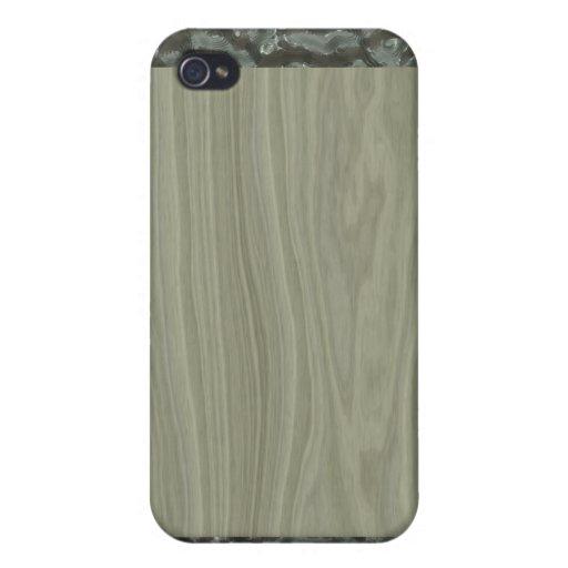 Extracto de madera del efecto iPhone 4 funda