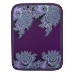 Extracto de medianoche violeta oscuro del fractal funda para iPads