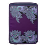 Extracto de medianoche violeta oscuro del fractal funda para macbook air