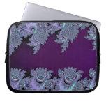 Extracto de medianoche violeta oscuro del fractal mangas portátiles