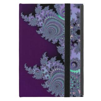Extracto de medianoche violeta oscuro del fractal iPad mini cárcasa