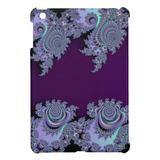 Extracto de medianoche violeta oscuro del fractal iPad mini protector