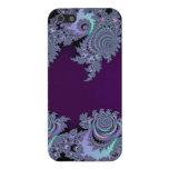 Extracto de medianoche violeta oscuro del fractal iPhone 5 cárcasas