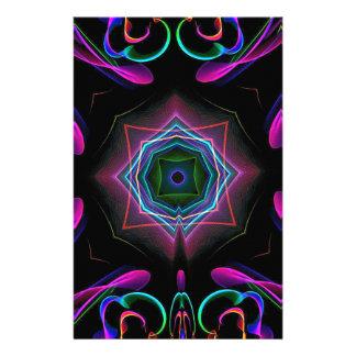 Extracto de neón colorido brillante vibrante  papeleria de diseño