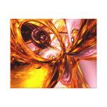 Extracto de oro del remolino impresion de lienzo