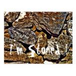 Extracto de piedra tarjetas postales
