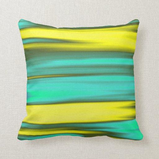 Extracto de pintura coloreado arco iris del diseño cojín