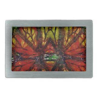 Extracto del ala de la mariposa de monarca hebillas cinturon rectangulares