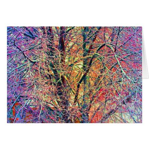Extracto del árbol tarjeta de felicitación