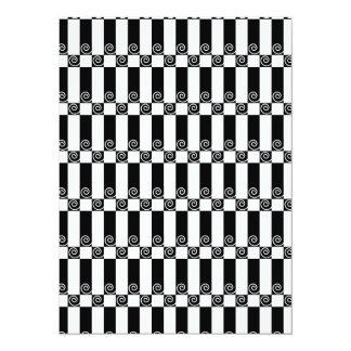 """Extracto del art déco/secesión de Viena geométrica Invitación 5.5"""" X 7.5"""""""