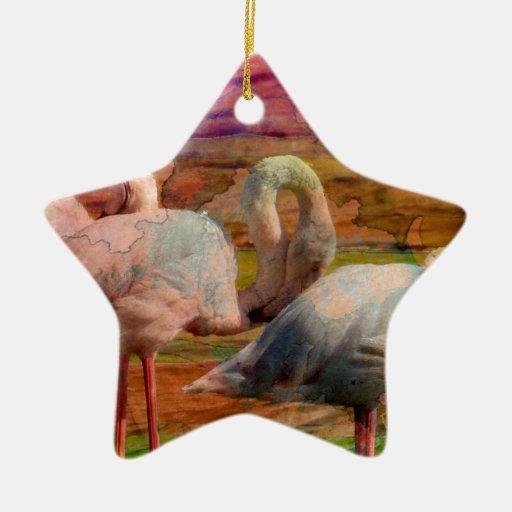 Extracto del arte del flamenco adorno navideño de cerámica en forma de estrella