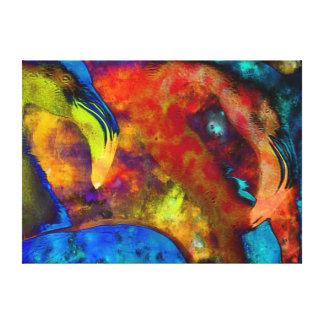 Extracto del arte del flamenco lona envuelta para galerias