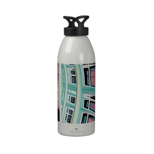 Extracto del arte del fractal de Windows Botellas De Agua Reutilizables