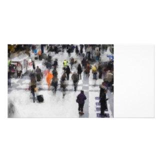 Extracto del arte del viajero tarjeta fotografica personalizada