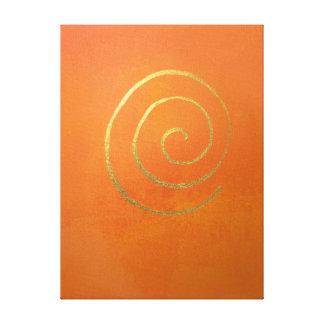 Extracto del arte moderno que pinta el oro lienzo envuelto para galerias