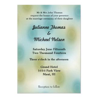 Extracto del azul y del oro invitación 12,7 x 17,8 cm