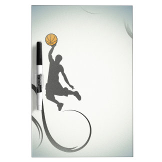 Extracto del baloncesto tablero blanco