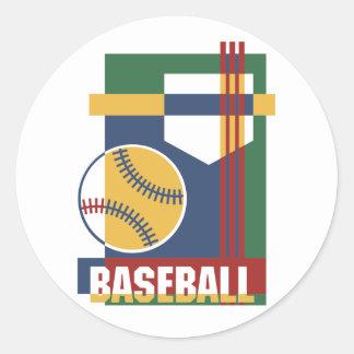 Extracto del béisbol pegatina redonda