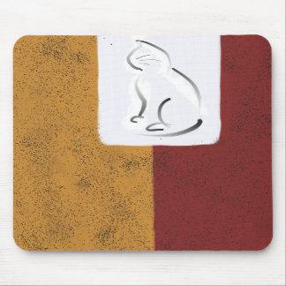 Extracto del bloque con el gato Mousepad Alfombrillas De Raton