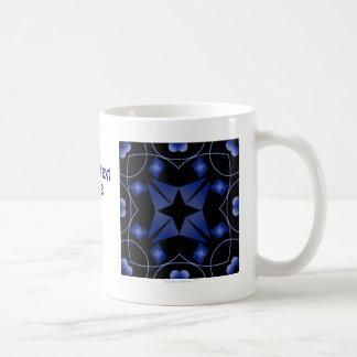Extracto del caleidoscopio de la estrella negra y taza clásica