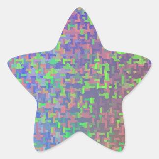 Extracto del caos del rompecabezas pegatina en forma de estrella