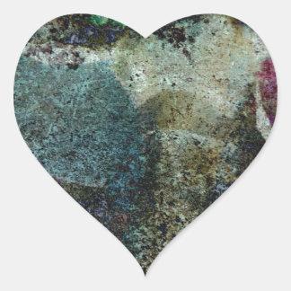 Extracto del Capricornio Pegatina En Forma De Corazón
