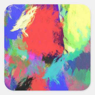 extracto del color (28) pegatina cuadrada