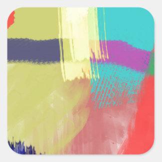 extracto del color (30) pegatina cuadrada