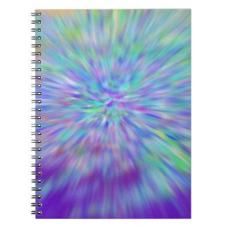 Extracto del color del cuaderno de la foto