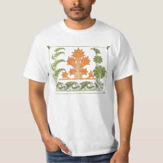 Extracto del diseño del art déco floral playera