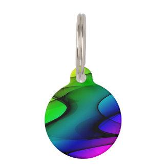 Extracto del espectro del arco iris identificador para mascota