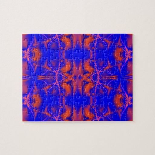 extracto del fractal del rojo azul puzzle