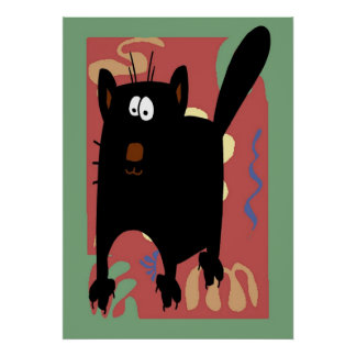 Extracto del gato negro poster