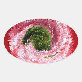 Extracto del globo de la flor calcomania de oval personalizadas