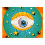 Extracto del globo del ojo postales
