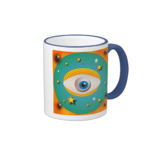 Extracto del globo del ojo tazas de café